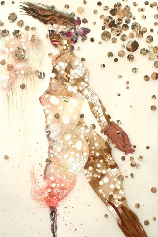 This is an artwork titled I have peg leg nightmares by artist Wangechi Mutu made in 2003