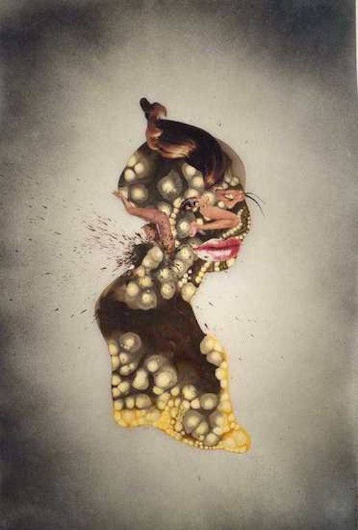 This is an artwork titled Untitled by artist Wangechi Mutu made in 2004