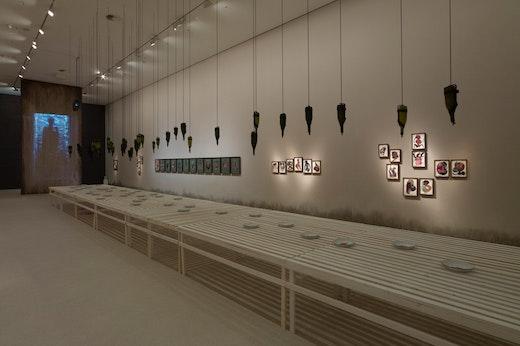 Wangechi Mutu Installation Shot, Wangechi Mutu: My Dirty Little Heaven, Photo: Mathias Schormann, © Deutsche Guggenheim