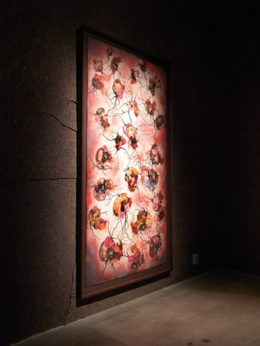 Wangechi Mutu Installation View, Courtesy of WIELS, Brussels, Photo: Filip Van Zieleghem