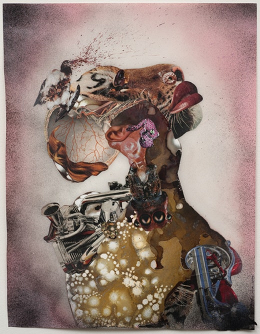 This is an artwork titled Homeward Bound by artist Wangechi Mutu made in 2009