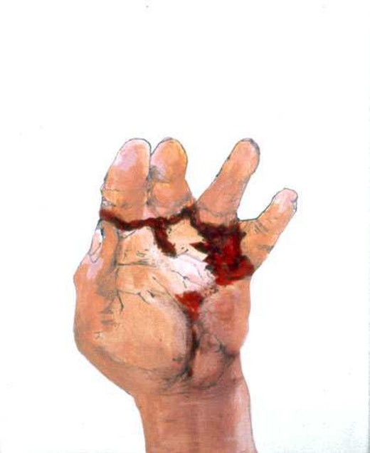 This is an artwork titled Broken Hand 27 by artist Whitney Bedford made in 2005