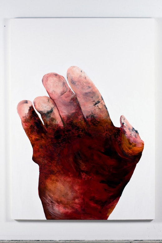 This is an artwork titled Broken Hand by artist Whitney Bedford made in 2005