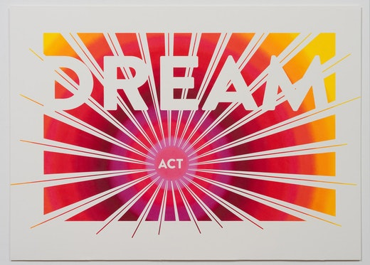 This is an artwork titled Pass The Dream Act (Dream Act) by artist Andrea Bowers made in 2012