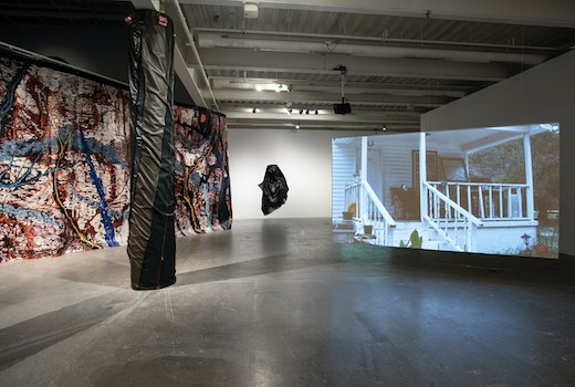"""Rodney McMillian """"The Black Show,"""" Installation View"""