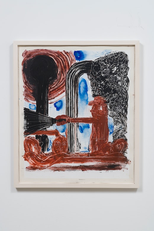 This is an artwork titled Dark Light Drawing by artist Nicole Eisenman made in 2017