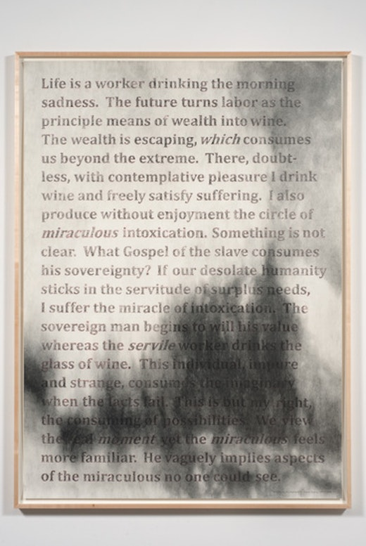 This is an artwork titled String Theory: Rewriting Bataille #11 by artist Charles Gaines made in 2011