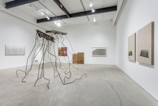 """Ruben Ochoa """"SAMPLED y SURVEYED,"""" Installation View"""