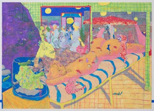 This is an artwork titled WOW, BOB, WOW by artist Dasha Shishkin made in 2013