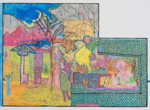 This is an artwork titled Sami Kratzt Sich by artist Dasha Shishkin made in 2014