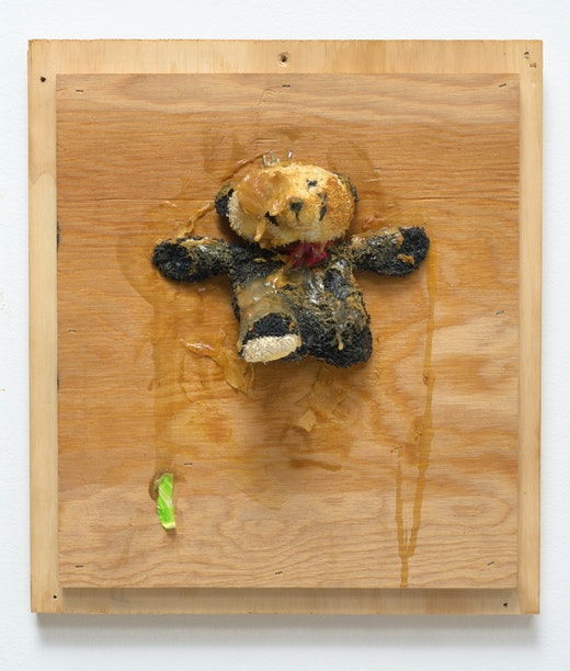This is an artwork titled Trophy (Small Panda) by artist Pope.L made in 2007