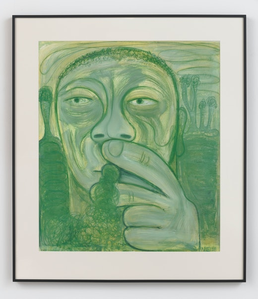 This is an artwork titled A Moment of General Anesthesia by artist Nicole Eisenman made in 2018
