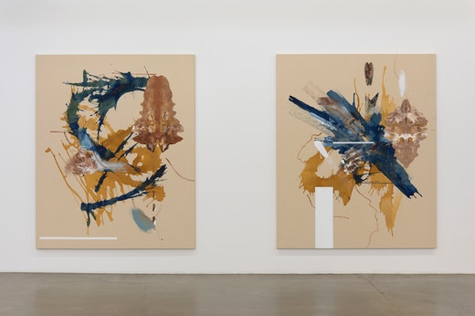 Elizabeth Neel: Lobster with Shell Game Installation View