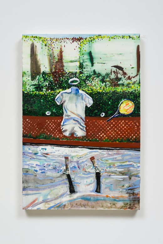 This is an artwork titled The Tennis Player by artist Raffi Kalenderian made in 2016