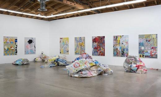 """Crush Paintings""  Installation View"