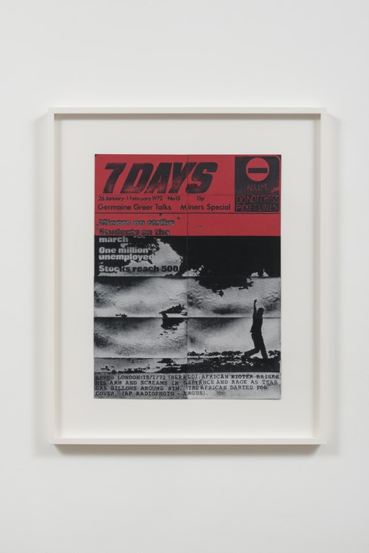 This is an artwork titled 7 Days, 26 January-1 February, 1972 by artist Mary Kelly made in 2014