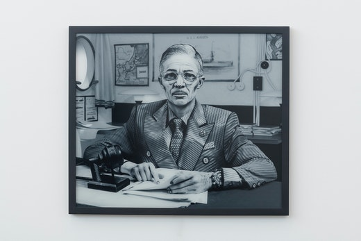 This is an artwork titled Harry S. Truman by artist Mary Reid Kelley & Patrick Kelley made in 2017