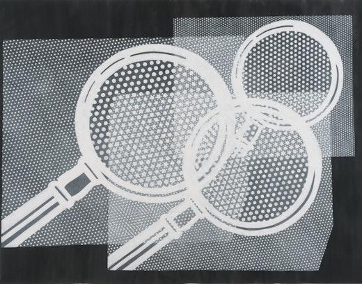 This is an artwork titled Lichtenstein #2 by artist Karl Haendel made in 2010