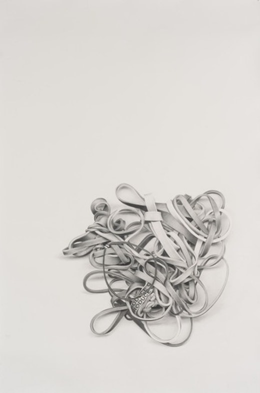 This is an artwork titled Rubber Bands #9 by artist Karl Haendel made in 2011