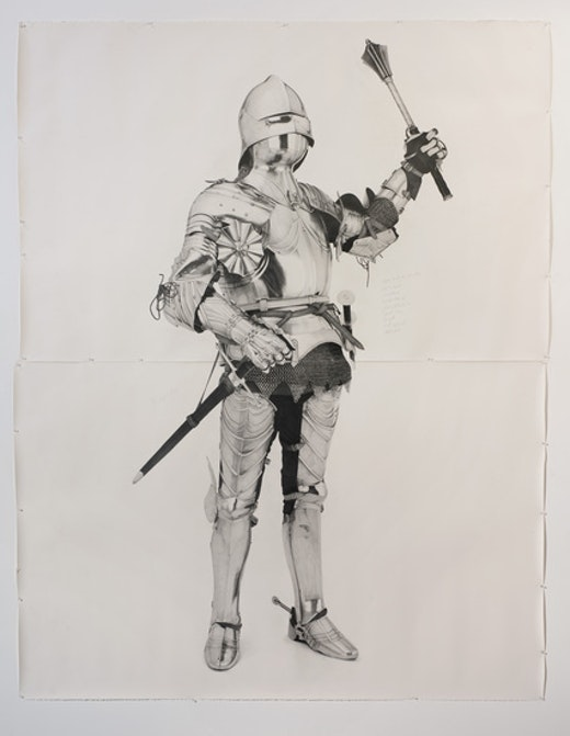 This is an artwork titled Knight #8 by artist Karl Haendel made in 2011