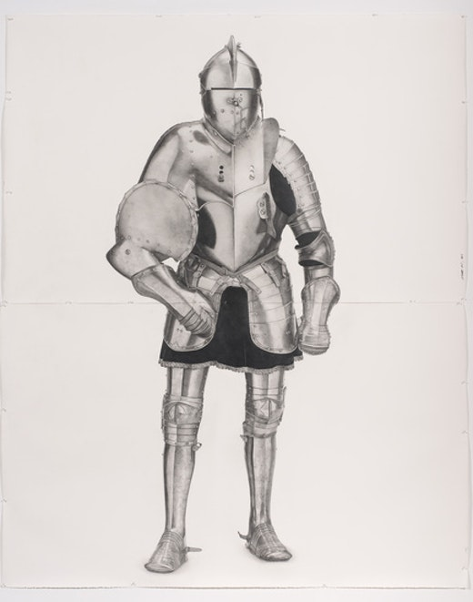 This is an artwork titled Knight #6 by artist Karl Haendel made in 2011