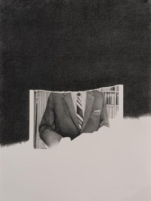 This is an artwork titled J. Edgar Hoover #3 by artist Karl Haendel made in 2012
