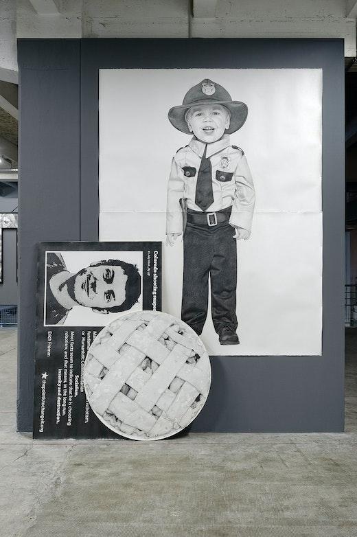 This is an artwork titled th Lyon Biennale: Karl Haendel by artist Karl Haendel made in 2013