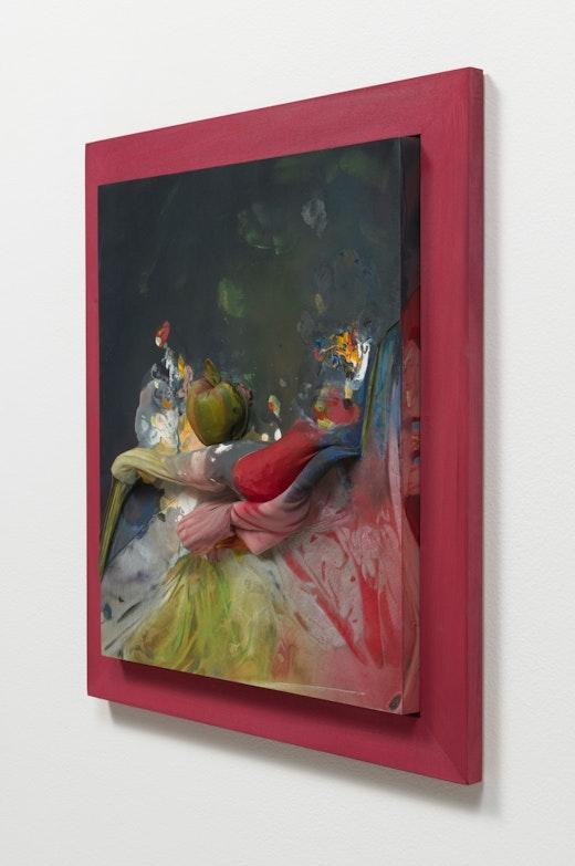 """April Street """"An arrangement with apple and bird,"""" detail"""