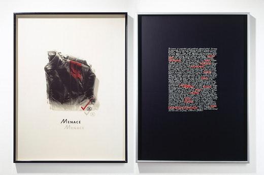 """Mary Kelly """"Interim, Part I: Corpus,"""" Detail, Menace, 1984- 1985"""