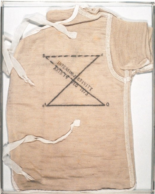 """This is an artwork titled """"Post-Partum Document: Introduction,"""" Detail by artist Mary Kelly made in 1973"""