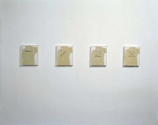 """This is an artwork titled """"Post-Partum Document: Introduction,"""" Installation, Generali Foundation, Vienna, 1998 by artist Mary Kelly made in 1973"""
