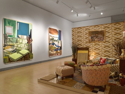 This is an artwork titled Mickalene Thomas: Origin of the Universe, September 28, 2012 through January 20 by artist Mickalene Thomas made in 2013