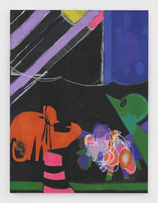 This is an artwork titled Charlie McGee by artist Ellen Berkenblit made in 2016