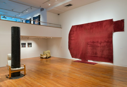 "Rodney McMillian ""Views of Main Street,"" installation view"