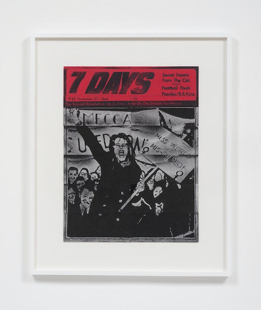 This is an artwork titled 7 Days, 17-23 November, 1971 by artist Mary Kelly made in 2016