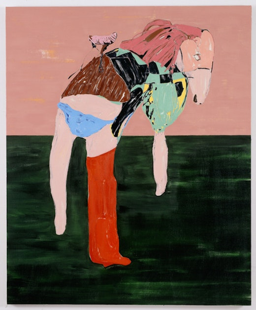 This is an artwork titled Blue Knickers by artist Nicola Tyson made in 2008