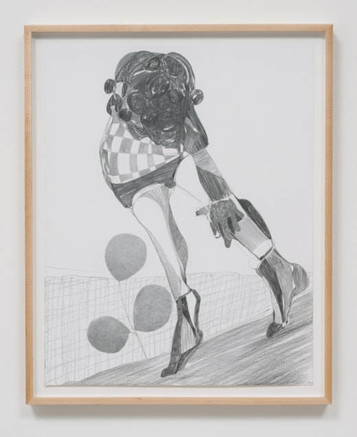 This is an artwork titled Graphite Drawing #11 by artist Nicola Tyson made in 2014