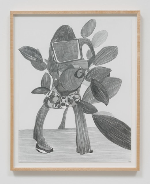This is an artwork titled Graphite Drawing #12 by artist Nicola Tyson made in 2014