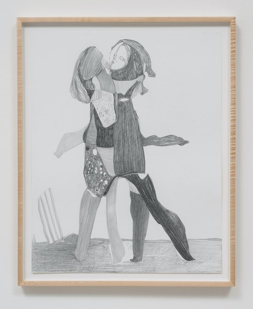 This is an artwork titled Graphite Drawing #13 by artist Nicola Tyson made in 2014