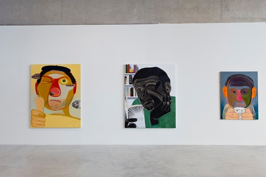 "This is an artwork titled Nicole Eisenman, ""Dear Nemesis, Nicole Eisenman 1993 - 2013"", January 24 - April 14 by artist Nicole Eisenman made in 2014"