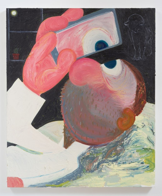 This is an artwork titled Selfie by artist Nicole Eisenman made in 2014