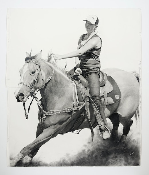 This is an artwork titled Rodeo 8 by artist Karl Haendel made in 2016