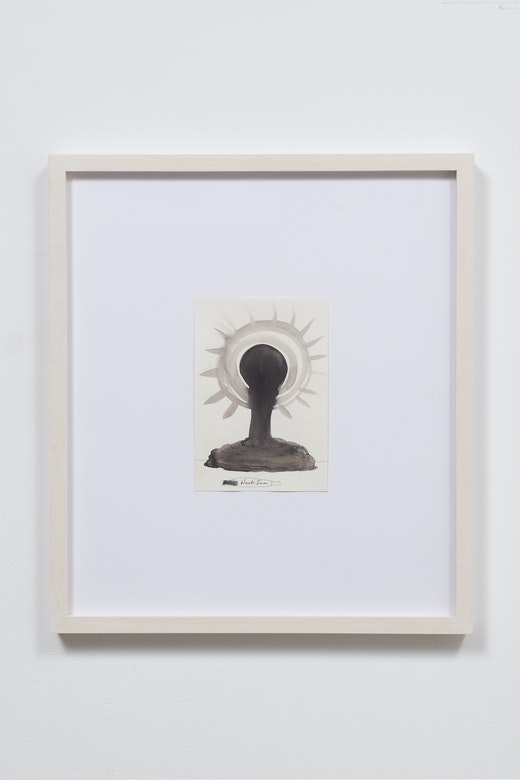 This is an artwork titled Black Sun by artist Nicole Eisenman made in 2015