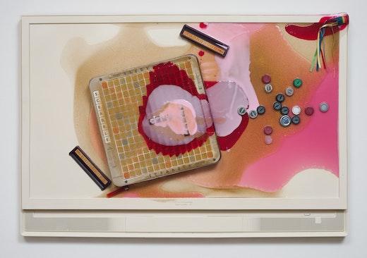 This is an artwork titled Flat Screen by artist Olga Koumoundouros made in 2013