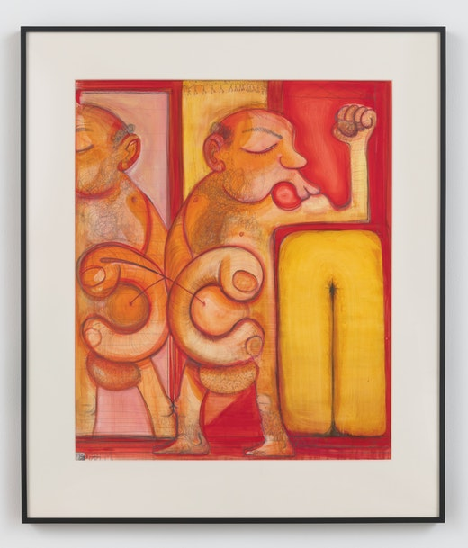 This is an artwork titled Onanist Own'n It by artist Nicole Eisenman made in 2017