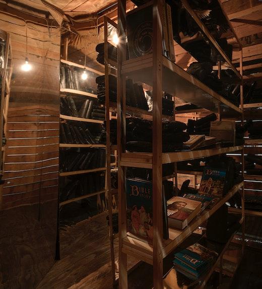 """Edgar Arceneaux """"Library of Black Lies,"""" Interior"""