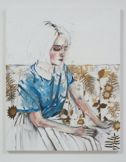 This is an artwork titled Dasha (Blue Polo) by artist Raffi Kalenderian made in 2014