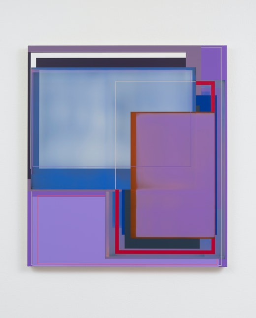 This is an artwork titled Violet Return by artist Patrick Wilson made in 2017