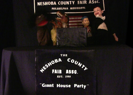 This is an artwork titled Neshoba County Fair (detail) by artist Rodney McMillian made in 2012