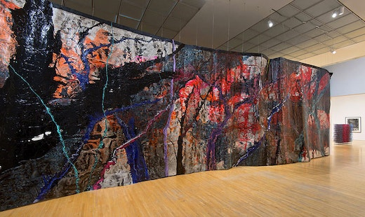 This is an artwork titled Rodney McMillian, Representation of a Landscape as a Wall by artist Rodney McMillian made in 2012